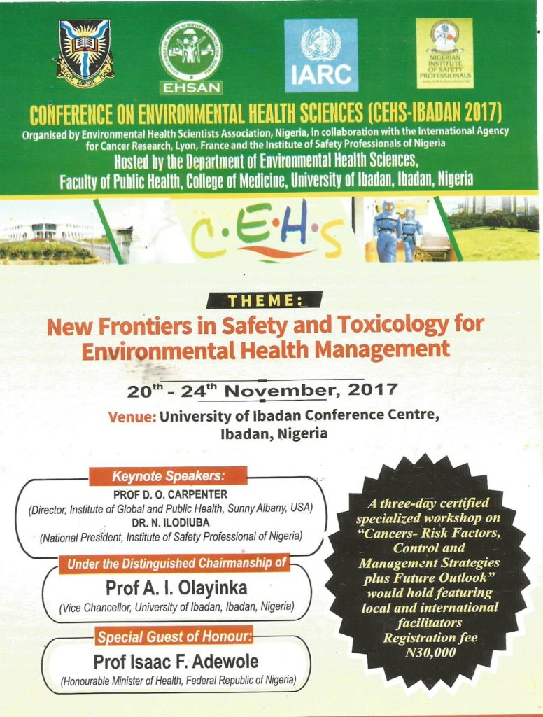 THE CONFERENCE ON ENVIRONMENTAL HEALTH SCIENCES CEHS